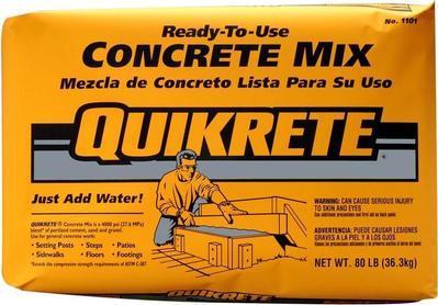 Quikrete 80 lb  Concrete Mix à $3 55 chez Home Depot | Flipp
