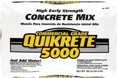 Quikrete 80 lb  High Early Strength Concrete Mix à $3 98