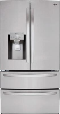 Lg 27.8 Cu. Ft. Stainless Steel French 4-door Refrigerator