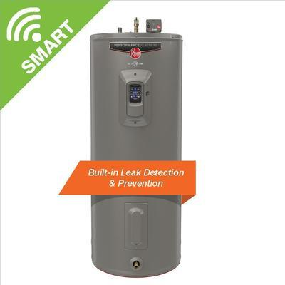 Rheem Gladiator 50 Gal. Medium 12 Year 5500/5500 Watt Smart Electric Water Heater With Leak Detection And Auto Shutoff