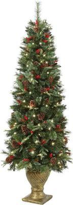 Home Accents Holiday 6.5 Ft. Pre-lit Potted Artificial Christmas Tree