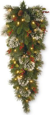 National Tree Company Wintry Pine 48 In. Teardrop With Battery Operated Warm White Led Lights