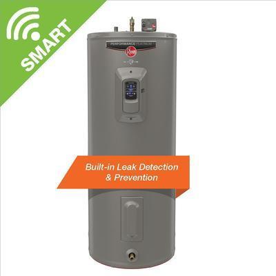 Rheem Gladiator 50 Gal. Medium 12 Year 5500/5500 Watt Smart Electric Water Heater With Leak Detection And Auto Shutoff