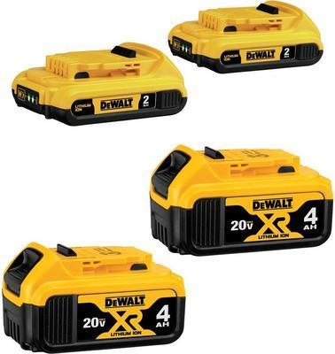Dewalt 20-volt Max Lithium-ion Battery Pack (4-pack)