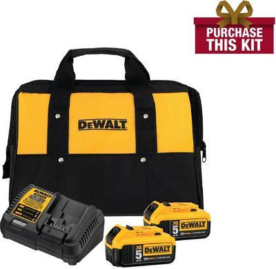 Dewalt 20-volt Max Xr Lithium-ion Starter Kit With Premium Battery Pack 5.0ah (2-pack), Charger And Kit Bag
