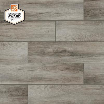 Lifeproof Shadow Wood 6 In. X 24 In. Porcelain Floor And Wall Tile (14.55 Sq. Ft. / Case)