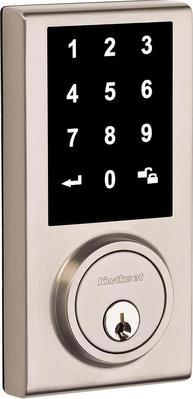 Kwikset Limited Edition Satin Nickel Single Cylinder Contemporary Square Touchscreen Deadbolt