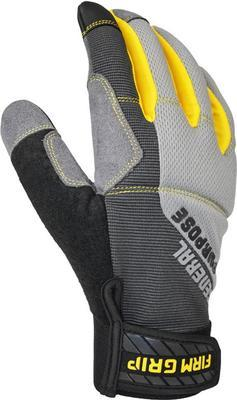Firm Grip General Purpose Medium Gray Synthetic Leather Glove (3-pair)