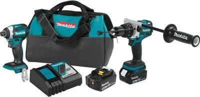 Makita 18-volt Lxt Lithium-ion Brushless Cordless 2-piece Combo Kit (hammer Drill/ Impact Driver) 5.0ah