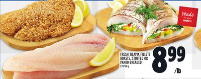 FRESH TILAPIA FILLETS ROASTS, STUFFED OR PANKO BREADED