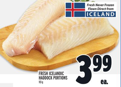 FRESH ICELANDIC HADDOCK PORTIONS