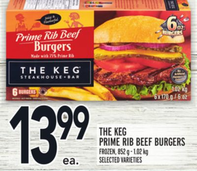 THE KEG® PRIME RIB BEEF BURGERS