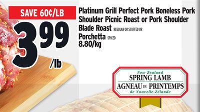 Platinum Grill Perfect Pork Boneless Pork Shoulder Picnic Roast or Pork Shoulder Blade Roast REGULAR OR STUFFED OR Porchetta SPICED