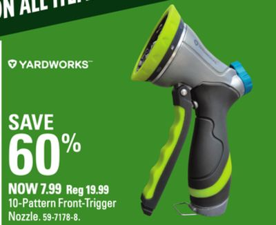 Canadian tire weekly ad for undefined this week may 17 2018 may yardworks 10 pattern front trigger nozzle greentooth Gallery