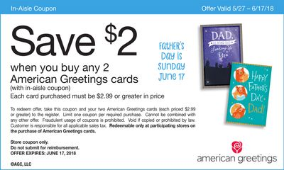 Coupon detail american greetings cards with in aisle coupon american greetings cards with in aisle coupon m4hsunfo
