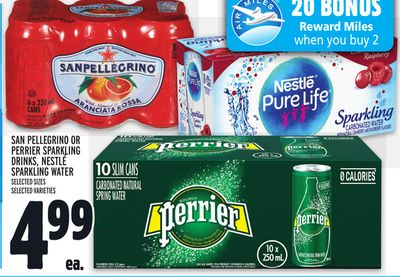 SAN PELLEGRINO OR PERRIER SPARKLING DRINKS, NESTLÉ SPARKLING WATER