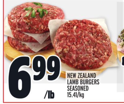 NEW ZEALAND LAMB BURGERS SEASONED