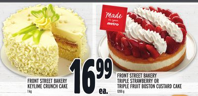 FRONT STREET BAKERY KEYLIME CRUNCH CAKE OR TRIPLE STRAWBERRY OR TRIPLE FRUIT BOSTON CUSTARD CAKE