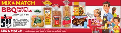 "DEMPSTER'S WHOLE GRAINS BREAD, BAGELS, 7"" TORTILLAS, VILLAGGIO BREAD OR BUNS, AH CARAMEL! POLAR BARS"