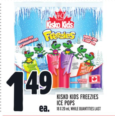 KISKO KIDS FREEZIES ICE POPS