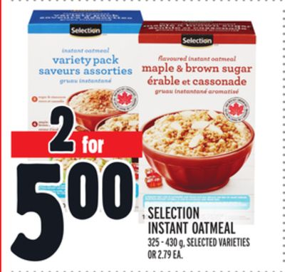 SELECTION INSTANT OATMEAL