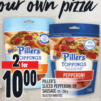 PILLER'S SLICED PEPPERONI OR SAUSAGE