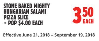 FRESH 2 GO STONE BAKED MIGHTY HUNGARIAN SALAMI PIZZA SLICE
