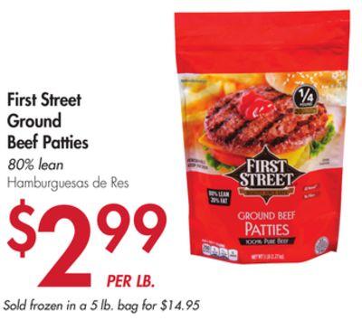 First Street Ground Beef Patties  sc 1 st  Flipp & Smart u0026 Final Weekly Ad for Phoenix this week (Jun 27 2018 - Jul 4 ...