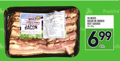 VG MEATS BACON OR SMOKED BEEF SAUSAGE