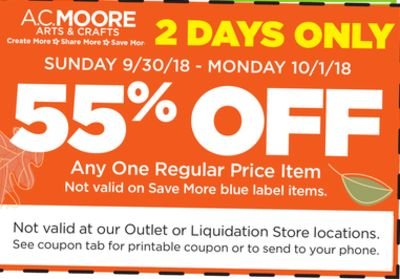 AC Moore Weekly Ad - Sep 30 to Oct 06 - Grid View - All