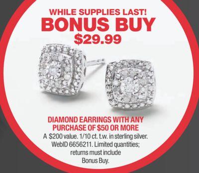 Macy's Diamond Cluster Stud Earrings (1/10 ct. t.w.) in Sterling Silver