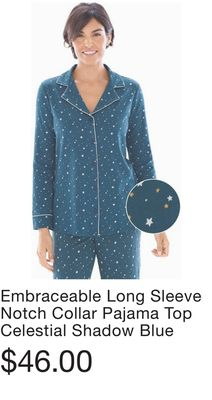 Cool Nights Long Sleeve Notch Collar Pajama Top Winsome Dot Opal Gray. Soma  Weekly Ad for El Paso this week (Oct 30 f504a6b1b