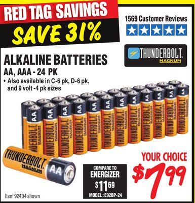 Thunderbolt Alkaline Batteries Aa Aaa 24 Pk