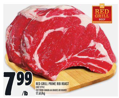 RED GRILL PRIME RIB ROAST