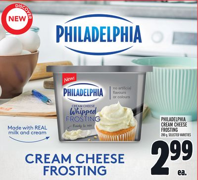 PHILADELPHIA CREAM CHEESE FROSTING