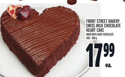 FRONT STREET BAKERY SWISS MILK CHOCOLATE HEART CAKE