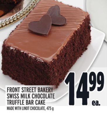 FRONT STREET BAKERY SWISS MILK CHOCOLATE TRUFFLE BAR CAKE
