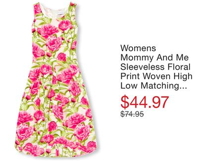 0d1cf5e55b Womens Mommy And Me Sleeveless Floral Print Woven High Low Matching Dress