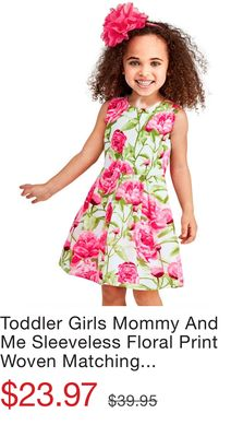 182aed47e6 Toddler Girls Mommy And Me Sleeveless Floral Print Woven Matching Dress