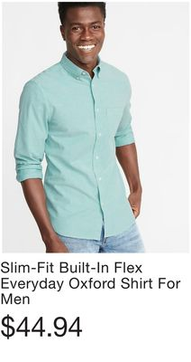 Slim-Fit Built-In Flex Everyday Oxford Shirt For Men 1b25a882c