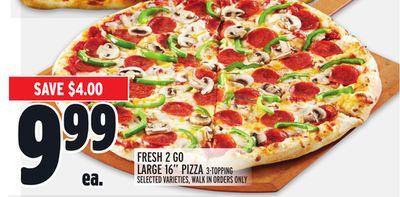 """FRESH 2 GO LARGE 16"""" PIZZA"""