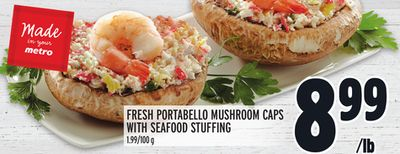 FRESH PORTABELLO MUSHROOM CAPS WITH SEAFOOD STUFFING