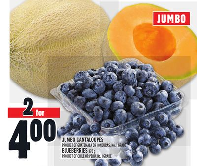 JUMBO CANTALOUPES or BLUEBERRIES