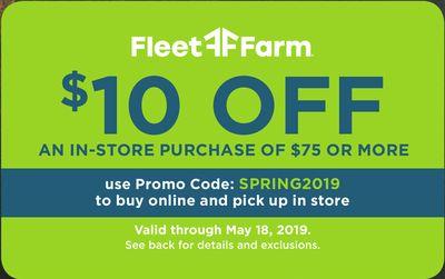 Fleet Farm Flyer for Rockwell City this week (15 Mar, 2019