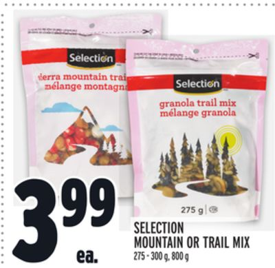 SELECTION MOUNTAIN OR TRAIL MIX