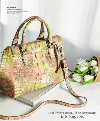 f6e5852507c0 Brahmin Melbourne Anywhere Embossed Leather Satchel, Created for Macy's