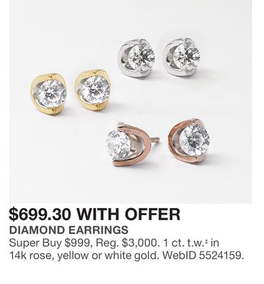 c3d34e313 EFFY Collection D'Oro by EFFY Diamond Flower (1-1/4 ct. t.w.) in Two ...