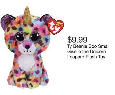 7bb99bfe354 Ty Beanie Boo Small Giselle the Unicorn Leopard Plush Toy