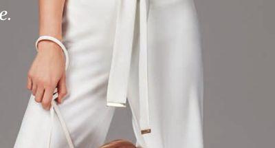cbaaa036f39 DKNY Contrast-Stitched V-Neck Top - Flipp