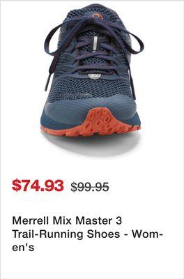62d23ec034cd9 Merrell Mix Master 3 Trail-Running Shoes - Women s